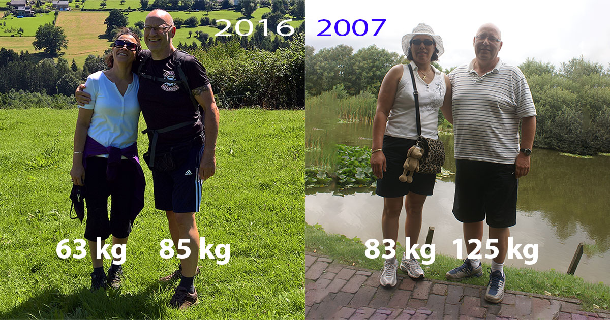 Wim Tilburgs Saida Tilburgs samen 60 kilo kwijt