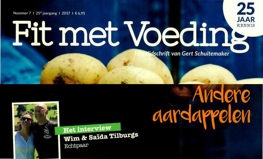 Voorpagina tijdschrift Fit met Voeding bijgewerkt