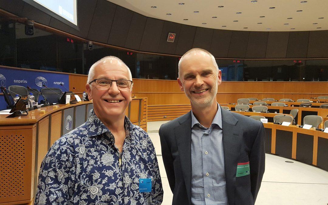 Ex-diabeet Dirk van Giel in het Europees Parlement