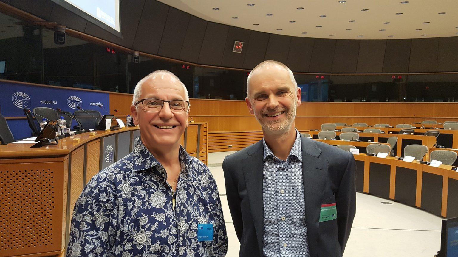 Dirk van Giel en Professor Hanno Pijl