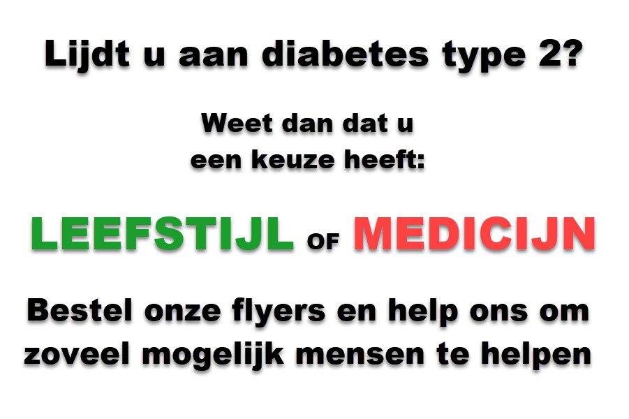 Flyeractie voor mensen met diabetes type 2