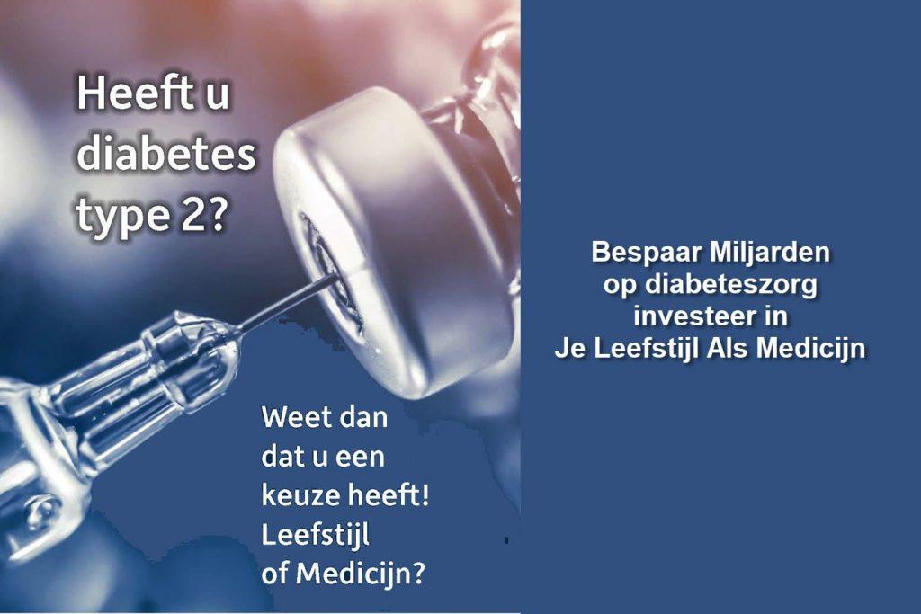 Bespaar Miljarden op diabeteszorg investeer in Je Leefstijl Als Medicijn