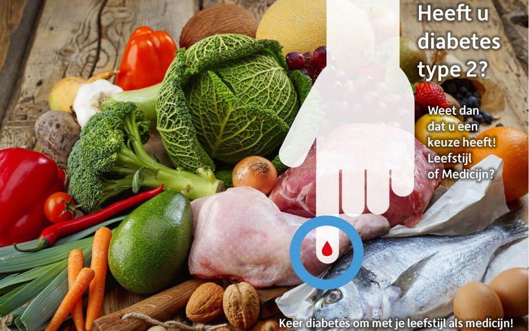 Heeft u Diabetes type 2? Weet dat u een keuze heeft! Leefstijl of Medicijn?