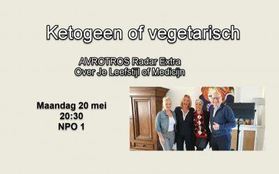 AVROTROS Radar Extra Ketogeen of vegetarisch?