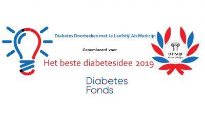 Je Leefstijl Als Medicijn genomineerd voor het beste diabetesidee 2019