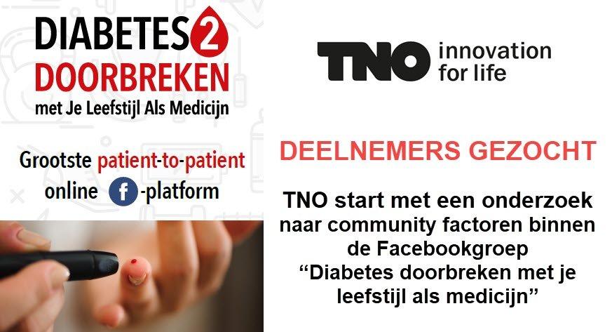 TNO onderzoek diabetes doorbreken met Je Leefstijl Als Medicijn