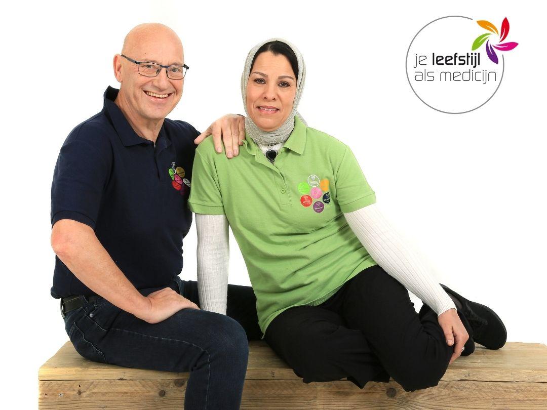 Wim Tilburgs en Saïda Tilburgs Gezond Helmond project Moslims