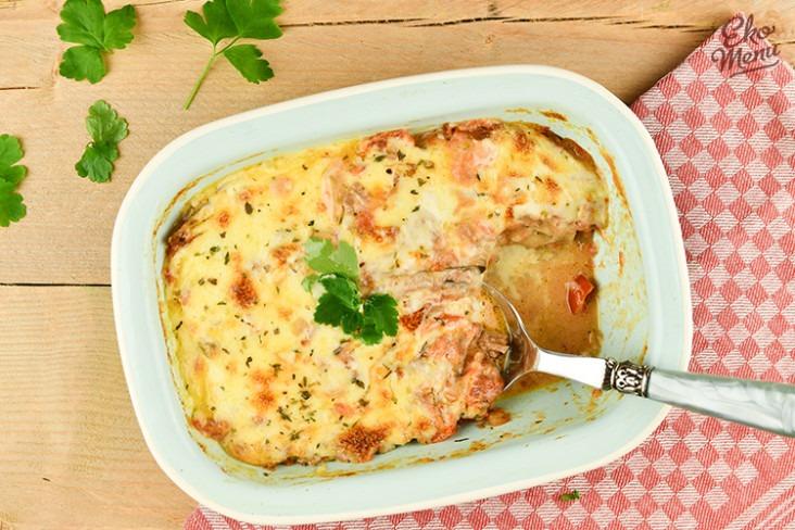 Keto lasagne met gehakt en aubergine