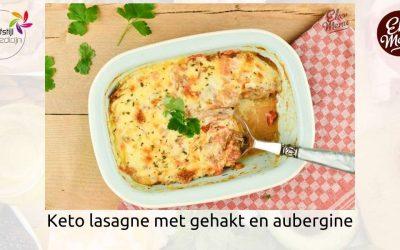 Koolhydraatarm recept keto lasagne met gehakt en aubergine