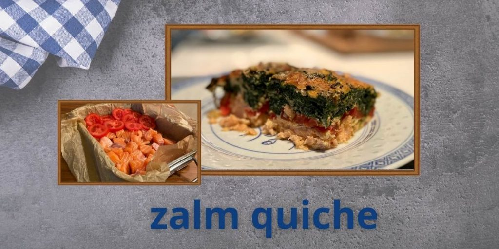 Zalm quiche met spinazie koolhydraatarm eiwitrijk