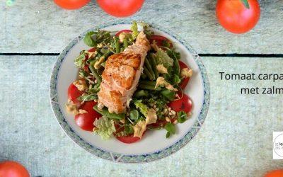 Recept Koolhydraatarm Tomatencarpaccio met Zalm